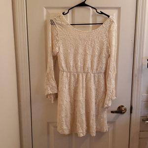 Rewind Off White Dress Size Medium